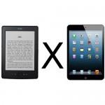 Kindle X iPad