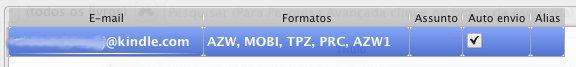 Email Kindle via Calibre - configuração 04