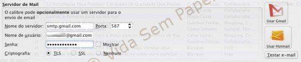 Email Kindle via Calibre - configuração 06